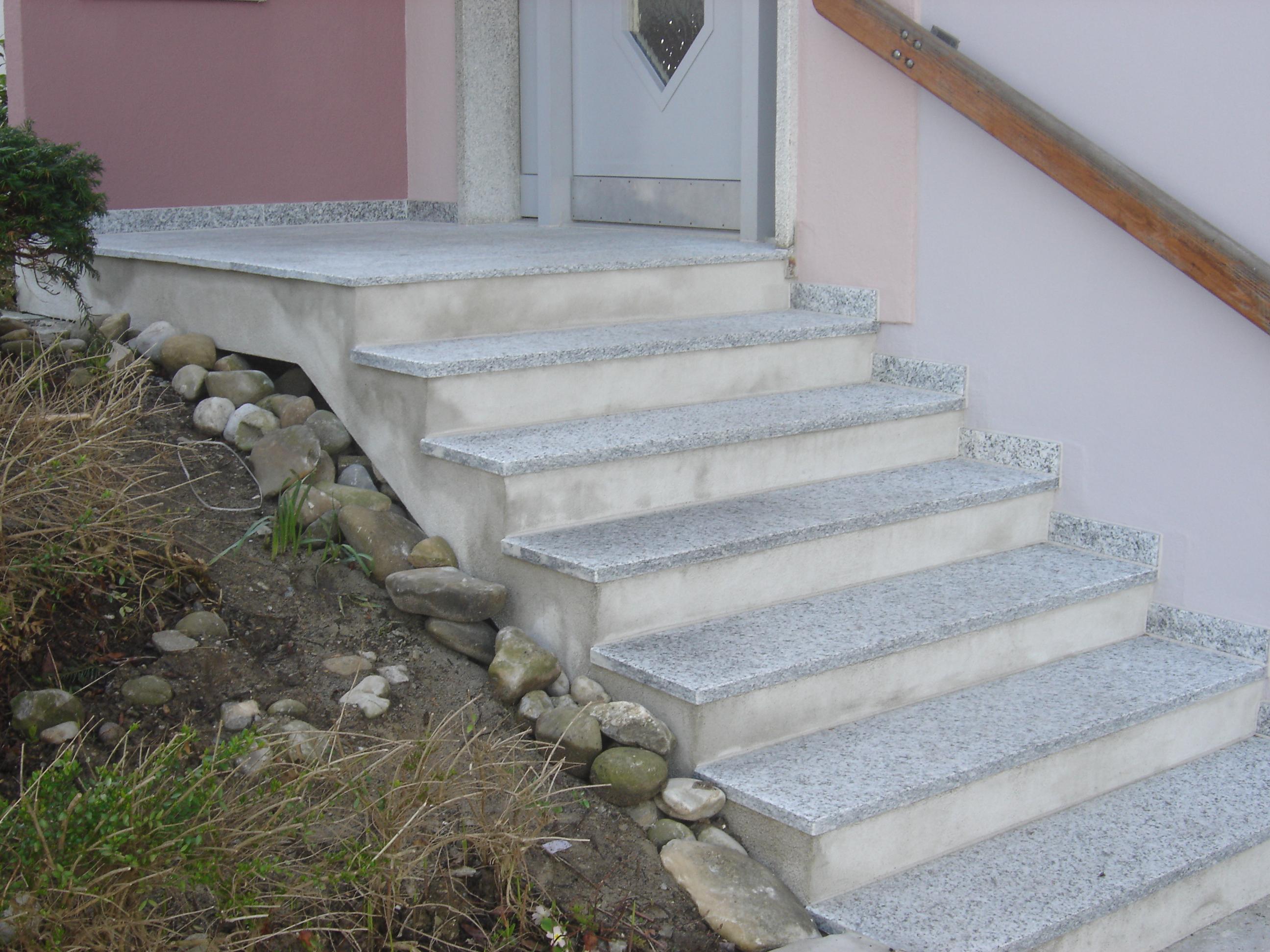 Treppe und Podest